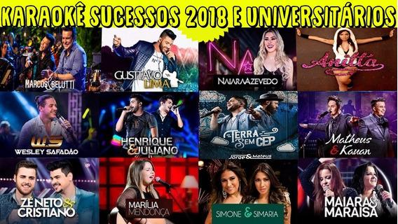 Karaokê Sucessos 2018 E Sertanejo Universitário Dvd Músicas