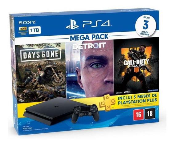 Console Playstation 4 Slim 1tb + 3 Jogos + 3 Meses Plus Sony
