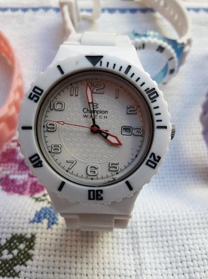 Relógio Champion Original Troca Pulseiras - Ler Descrição