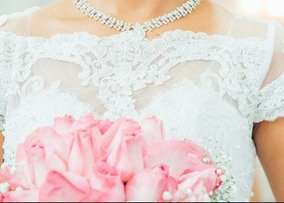 Vestido De Noiva Modelo Princesa Manga Curta