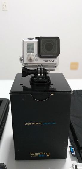 Gopro Hero 3+ Black Edition + Controle+tela Lcd+acessórios
