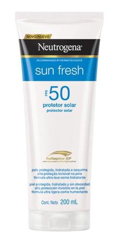 Protetor Solar Neutrogena Sun Fresh Corpo Fps50 200ml 45%off