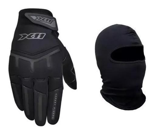 X11 Fit X Luva Motociclista Fem/masc + Balaclava Brinde Moto