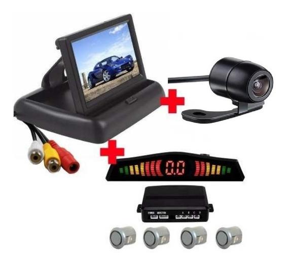 Kit Sensor Re + Camera De Re Colorida + Tela Lcd Retratil