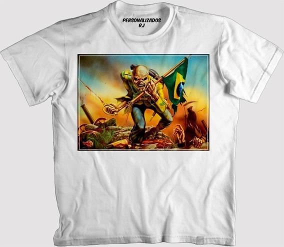 Camisa Iron Maiden Bandeira Do Brasil