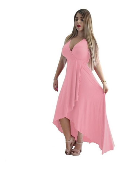 Maxi Vestido Moda Cocktail Fiesta Envio Gratis 12 Colores