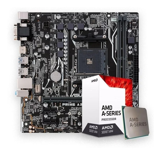 Kit Gamer A8-9600 + Placa Mãe Am4 Ddr4 Nota Fiscal