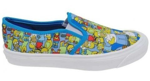 Tenis The Simpsons Azules 24mx Nuevos Originales Unisex