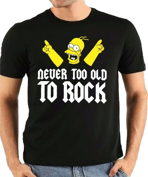 Camiseta Homer Simpsons Rock Preta Oferta Relampago