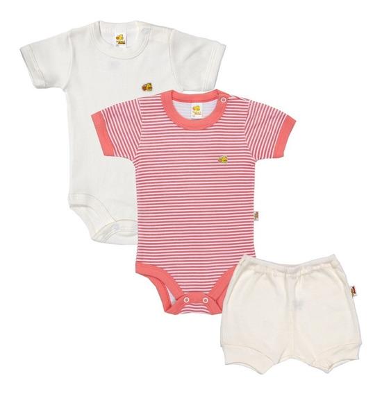 Kit De Body E Short Infantil De Verão Bebê - Baby Duck