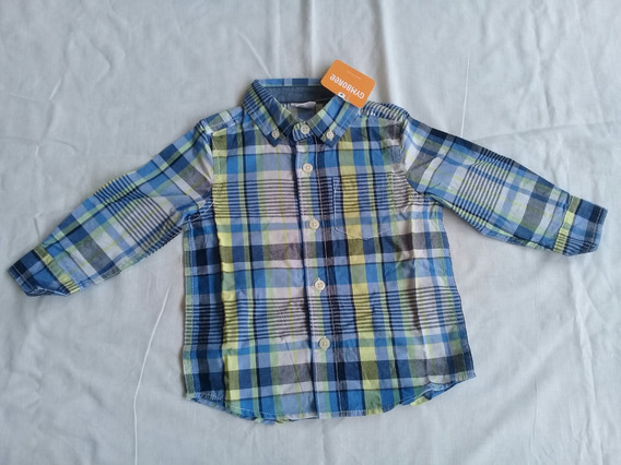Camisa Social Infantil Xadrez Gymboree Importada Original