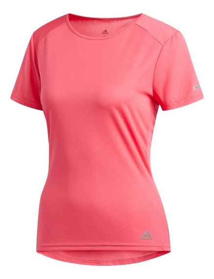 adidas Remera M/c Running Mujer Run Rosa