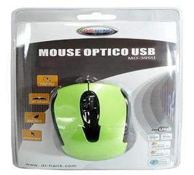 Mouse Dr.hank Mo395u Opt Usb Verde/preto