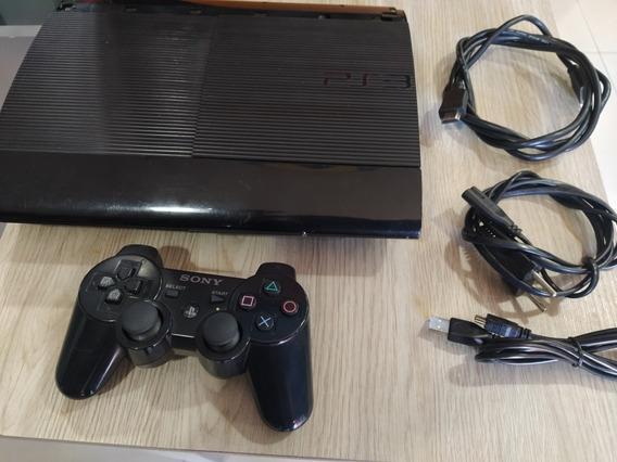 Ps3 Playstation 3 Super Slim Com Controle