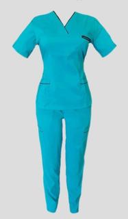 Uniforme Quirúrgico Azul Anti-fluido Para Dama