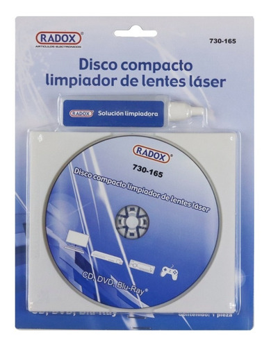 Imagen 1 de 1 de Disco Liquido Limpiador Lente Laser Cd Dvd Blu Ray Pc Laptop