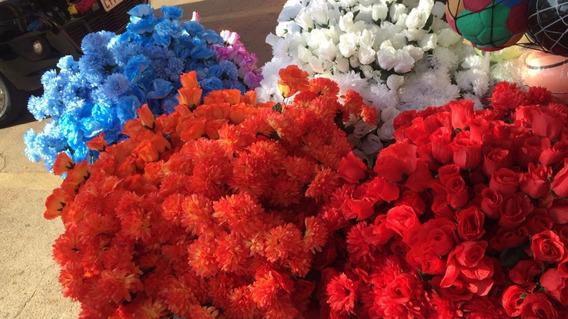 Lote Flores Artificiais Rosa Crisântemo Atacado 200 Unidades