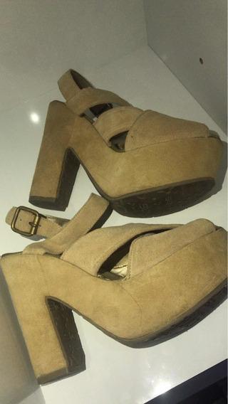 Zapatos Gamuza Nude