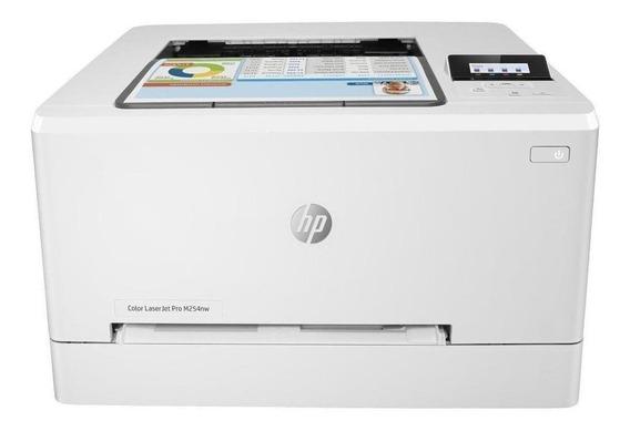 Impressora a cor HP LaserJet Pro M254DW com wifi 110V branca
