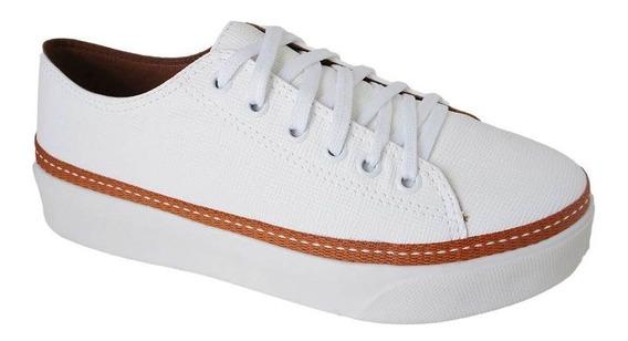 Tenis Redsun Salto 3,5 Cm Flat Form - 211410355 Branco