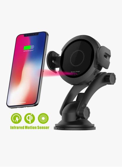 Suporte Veicular Carregador Wireless Para iPhone 8/ 8 Plus