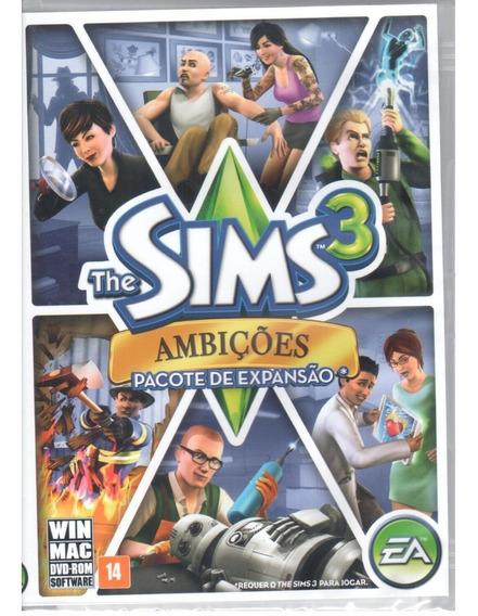 The Sims 3 Ambições Jogo Pc Original Mídia Física Lacrado