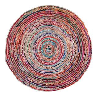 Alfombra Maheshtala Multiculor Redonda Okko Yute Multicolor