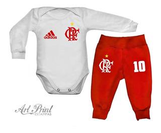 Conjunto Baby Flamengo C/ Nome Personalizado