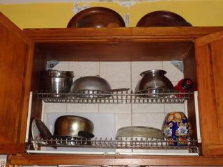 Unico:muebles Pinotea Cocina,4 Modulos:alacena Y Organizador