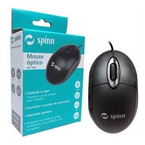 Mouse Usb Padrão Spinn Mp 100