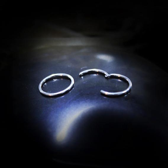 Piercing Argola Segmentada Titânio 1.6mm De 12mm