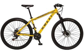 Bicicleta Aro 29 Alumínio 21 Marchas Shimano Colli - Amarelo