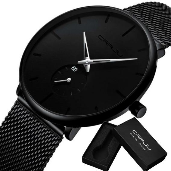 Relógio Masculino Luxo Crrju 2150 Original C/caixa Promoção