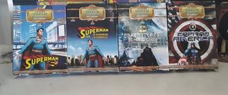 Coleção 8 Dvds Super Heróis Do Cinema Superman Batman