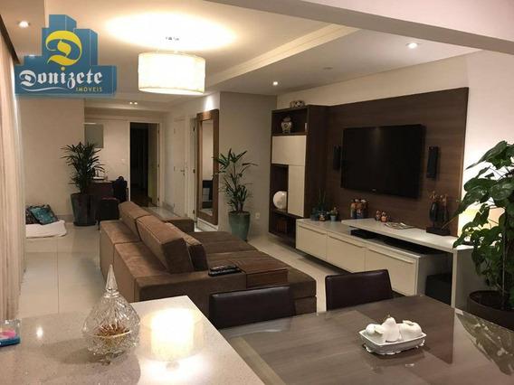 Apartamento À Venda, 124 M² Por R$ 879.000,00 - Jardim - Santo André/sp - Ap10352