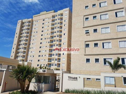 Apartamento Com 2 Dormitórios, 56 M² - Venda Por R$ 330.000,00 Ou Aluguel Por R$ 1.600,00/mês - Parque Dos Servidores - Paulínia/sp - Ap0781