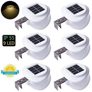 Luces De Valla Solares Ds Lighting Outdoor 9 Led Gutter Ligh