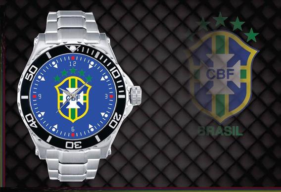 Relógio De Pulso Personalizado Cbf Brasil Copa 2018 Azul Top
