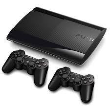 Playstation 3 Slim + 2 Controles + 5 Jogos