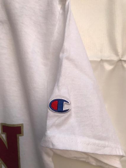 Playera Champion Hombre Beisbol Logo Bordado Original