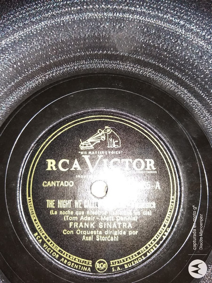 Disco Pasta 78 Rpm Frank Sinatra Orq Stordah Rca Victor C106