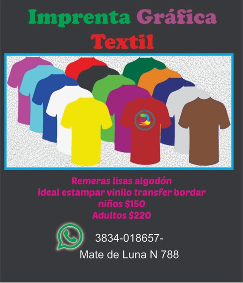 Remeras Por Mayor