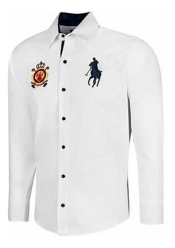Camisa Elegante Polo Houston Hpc 53065 Color Blanco   Pv20