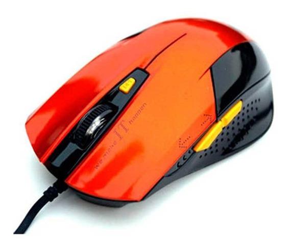 Mouse Óptico Usb Gamer Thunder Jm-1201 Orange