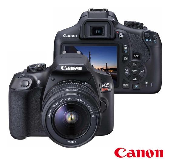 Câmera Digital Canon Eos Rebel T6 Dslr 18mp Lente Ef-s 18-55