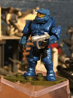 Mega Construx Halo A New Dawn Blue Spartan Nuevo Abierto