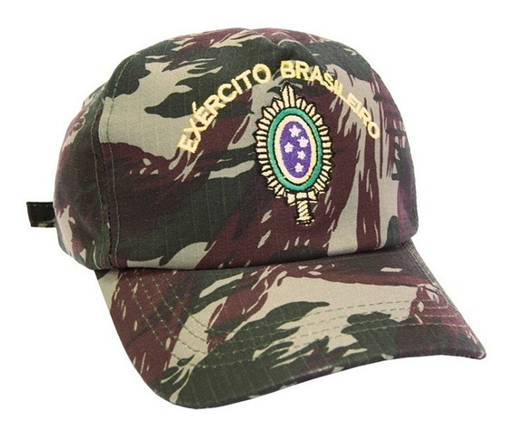 Boné Camuflado Bordado Exército Brasileiro