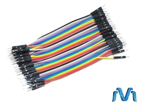 Cable Jumpers Dupont Macho Macho 10cm 40pzas Arduino