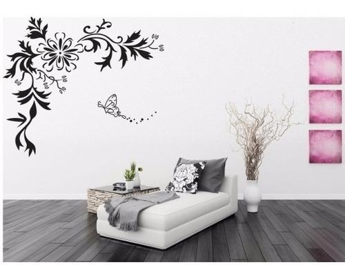 Vinilos Adhesivos Decorativos Flores Y Ramas Negras Jm7032