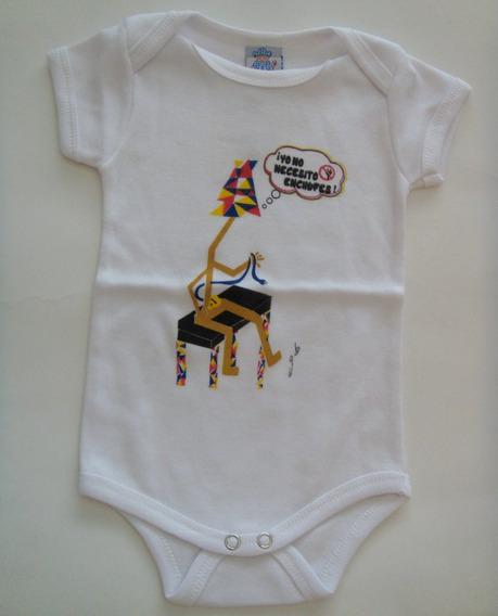 Body Estampado (blancos) Bebes C/mangas Marca Rodes